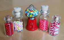 Collection of Dolls House Sweet Jars and Gumball Machine