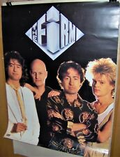 The Firm Original Promo Poster 1985 Atlantic Records Jimmy Page Paul Rogers