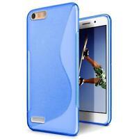 Handy Hülle für Huawei P7 Mini Silikon Case Slim Cover Schutz Hülle Tasche Blau