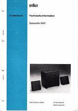 Service Manual-Anleitung für Braun SW 2
