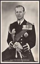 His Royal Highness The Duke of Edinburgh - Real Photo Postcard