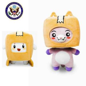 LankyBox World Foxy & Boxy & Rocky Plush Doll , Soft Stuffed Toy For Kids Gifts