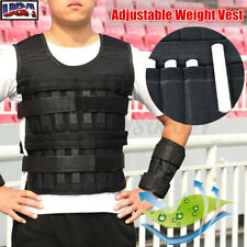 15/30KG Loading Adjustable Weighted Vest Boxing Fitness Training Sport Exercise