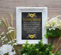 Wedding Table Sign - In Loving Memory Wedding Sign 8x10 Rustic Style Chalkboard