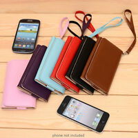 PU Leather Protective Wallet Case Clutch Cover for Smart-Phones ESMXWL-3