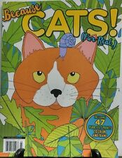 Because Cats Fur Real Adult Coloring Book 47 Prints Color Frame FREE SHIPPING sb