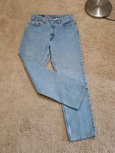 vtg Levis 512 Slim Fit Mom Jeans women Straight Leg High Waisted Size 11,30 x 30