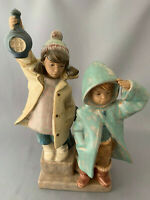 Lladro Gres Ahoy There Figurine.Number 2173.Boy & Girl with Lantern.