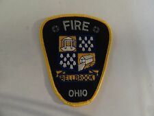 PATCH FIRE RESCUE MEDICAL BELLBROOK OHIO