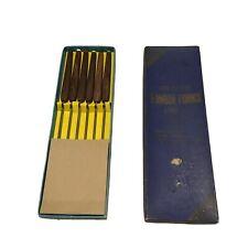 Vtg MCM Puralum 6 Fondue Forks Cutlers International Rosewood & Stainless Steel
