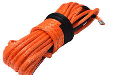 """Orange 1/2""""*100ft ATV Synthetic Winch Rope,Offroad Rope for Electric Wihches"""