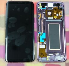 Original Morado Samsung SM-G960F Galaxy S9 PANTALLA AMOLED PANTALLA LCD 2k Marco