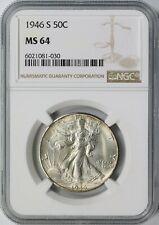 1946-S Walking Liberty Silver Half Dollar 50c NGC MS64