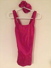 Freida B Beautiful Hot Pink Sparkle Skating Dress