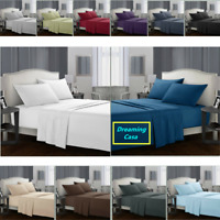 KING SIZE SHEETS 1800 Count Hotel Luxury 4 Piece Deep Pocket Bed Sheet Set H1