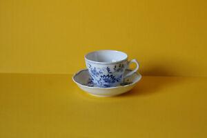Tirschenreuth Zwiebelmuster Echt Cobalt Kaffeetasse mit Untertasse Tasse Untere