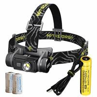 Nitecore HC60 1000 Lumen USB Rechargeable LED Headlamp w/ 3400 18650 & CR123A's