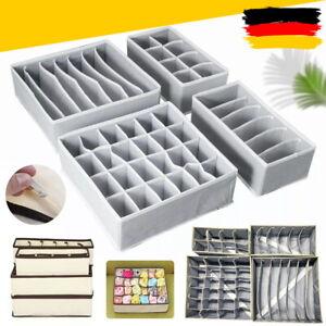 4er Schrank & Schublade Organizer Aufbewahrungsbox Für Bra Unterwäsche Socken DE