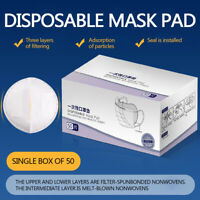 50PCS Replacement Pad(ONE TIME) Dust-proof  protection Skin-friendly Filter Pad