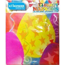 12Pk PAPER NAPKINS All Occasion Balloon Kids Birthday Party Children's Tableware