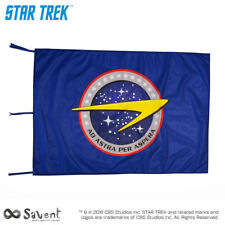 STAR TREK OFFICIAL AD ASTRA PER ASPERA BLUE FLAG - cm. 100x150
