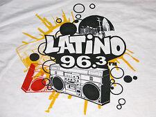 Vtg Latino 96.3 FM Los Angeles CA Promo Boom Box Music T Shirt Mens XL