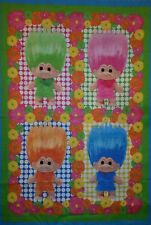 """PERSONALIZE -  3 PC TROLL DOLL DOLLS DAISY QUILT CRIB BLANKET + PILLOW COVER 14"""""""