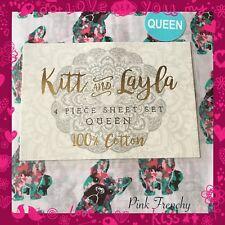 French Bulldog Queen Sheet 4pc Set 100% Cotton Home food bedding Set