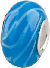 """ Charlot ""... Borrow Glass Ball with silberkern Hearts GPS 13 Turquoise Murano"
