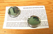 1940 - 1966 CHEVY TRUCK BEDSIDE CURL HOLE POLISHED ALUMINUM CAPS  Pair
