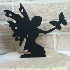 Fairy set in flag stone base home decor