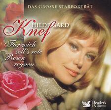HILDEGARD KNEF- 4 CD- FÜR MICH SOLL'S ROTE ROSEN REGNEN - Reader's Digest / Neu