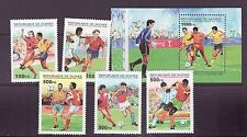 Guinea # 1286-91 Complete W/SS 1998 World Cup Football Soccer
