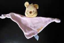 23- DOUDOU TRIANGLE PLAT 2 NOUETTES WINNIE ROSE DISNEY BABY GSA -TBE