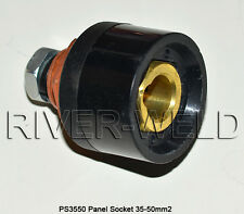 PS3550 Panel socket connector 300-400A CK35-50mm Fit TIG Welding Torch Free ship