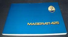 Uso E Manutenzione Handbuch Maserati 425 Biturbo Juli 1984 Betriebsanleitung!