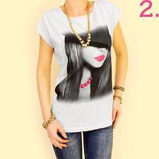 Markenlose Mehrfarbige Damenblusen,-Tops & -Shirts mit Rundhals für Freizeit