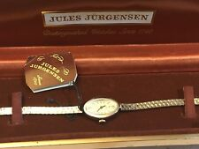 Vintage Jules Jurgensen Ladies Mechanical Windup SilverTone Watch N.O.S (2941)