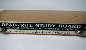 Vintage Read Rite Study Board Stand Book Holder Wood Art Deco Made in USA