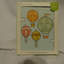 New pack 10 GREEN INSPIRED Hot Air Balloons Blank Note Cards & Envelopes