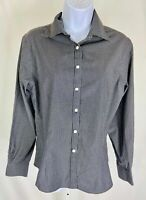 Brooks Brothers 346 Fitted Plaid Long Sleeve Button Down Shirt Women's Size 8