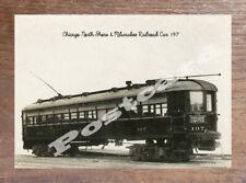 Historic Chicago North Shore & Milwaukee Railroad Car 197 Transport Postcard