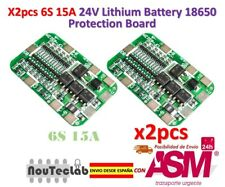 2pcs 6S 15A 24V PCB BMS Protection Board For 6 Pack 18650 Li-ion Lithium Battery