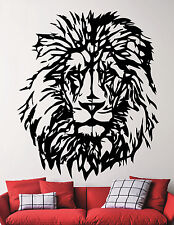 Lion Vinyl Sticker Safari Wildlife Wall Decal Art Animal Head Room Decor 5emd