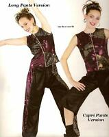 Take Me Or Leave Me Dance Costume Long Pants & Zipper Top Clearance Adult Small