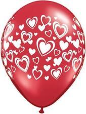 Globos de fiesta color principal rojo ovalada Día de San Valentín