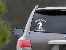 Personalized Hockey Vinyl Car Decal