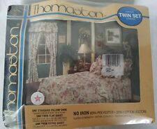 Vintage Thomaston Ivory Tapestry 3 Piece Twin Size Sheet Set New In Package