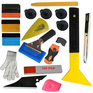 Car Wrapping Vinyl Tools Kits 3M Squeegee Scraper Razor Glove Magnets Sticker
