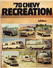 1978 Chevy RECREATION RV Guide / Brochure with Specs: SUBURBAN,C10,PickUp,BLAZER